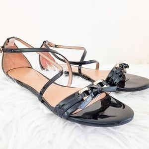 Talbots leather upper ballet style  patent…